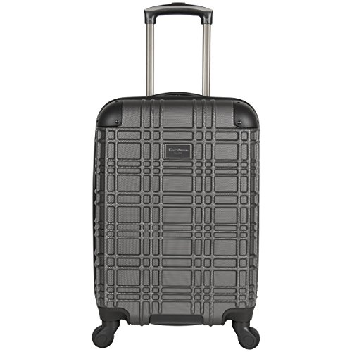 Ben Sherman Nottingham 20-Inch Carry-On Lightweight Durable Hardshell 4-Wheel Spinner Cabin Size Luggage, Charcoal