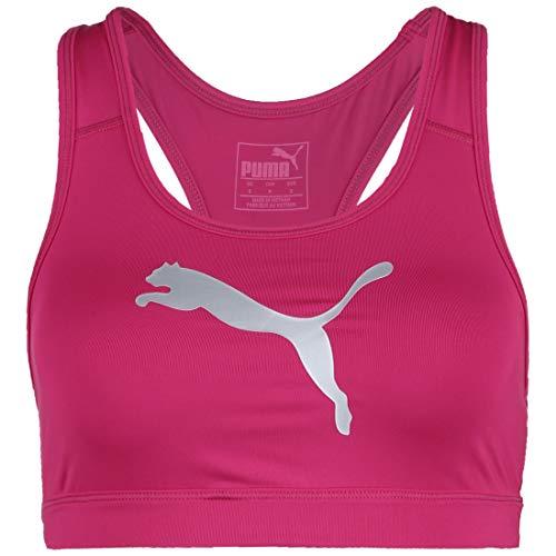 PUMA Damen Sport BH 4Keeps Bra M, Bright Rose/Metallic Silver Cat, M, 519158