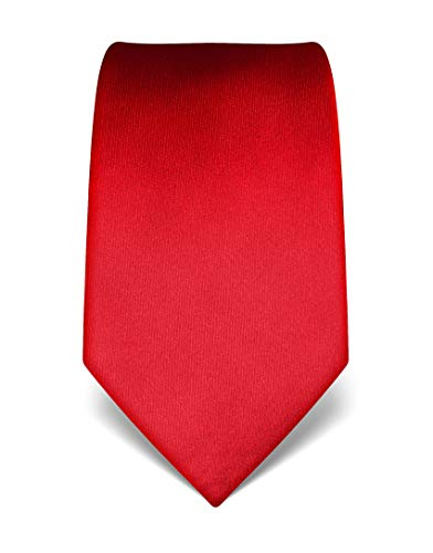 Vincenzo Boretti Corbata de hombre en seda pura, uni rojo