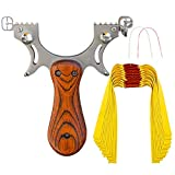 D&Q Slingshot High Velocity Catapult with 10 Pcs Flat Bands Powerful Professional Sling Shot with Aiming Points for Adult Shooting Fishing Hunting Competition