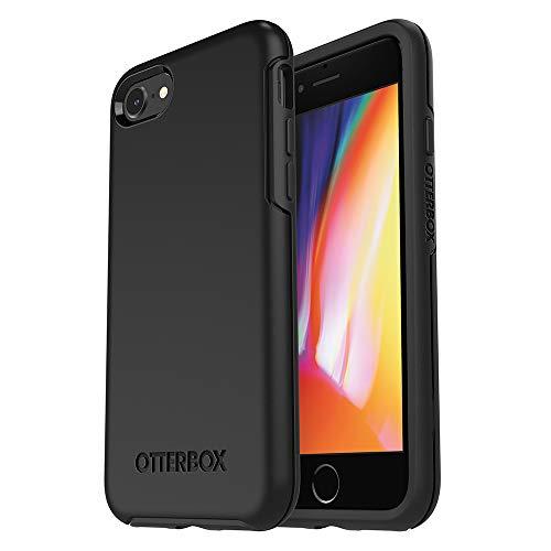OtterBox Symmetry Schutzhülle für iPhone SE 2020/8/7, Schwarz