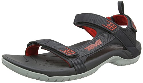 Teva Tanza, Herren outdoor-sandalen, Mehrfarbig (Dark Shadow/Red Dswr), 45.5 EU