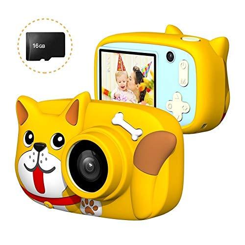 Minirok Digitale Camera Cartoon Kids 26MP 1080P Video Camera Camcorder 2,4 inch IPS scherm Drievoudige Camera Lens Rechargeable Shockproof CameraOtherAccessories (Color : Yellow)