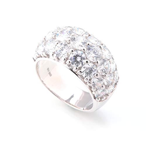 スワロフスキー リング パヴェ PLUSTER (正規タグカード付) シルバー925 純銀製 指輪 レディース [ギフトボックスセット] #15 スワロフスキージルコニア