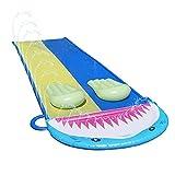Rasenwasserrutsche, Doppeltes Wasserspritzer Gleiten Extra Lange Wasserrutsche Spielzeug, Dauerhafte...