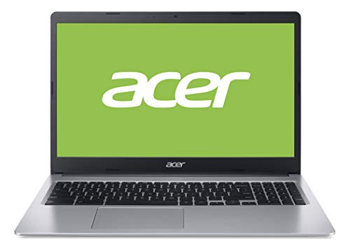 Acer Chromebook 315 Notebook (15,6 Zoll Full-HD IPS Touchscreen matt, 20mm flach, extrem lange Akkulaufzeit, schnelles WLAN, MicroSD Slot, Google Chrome OS) Silber