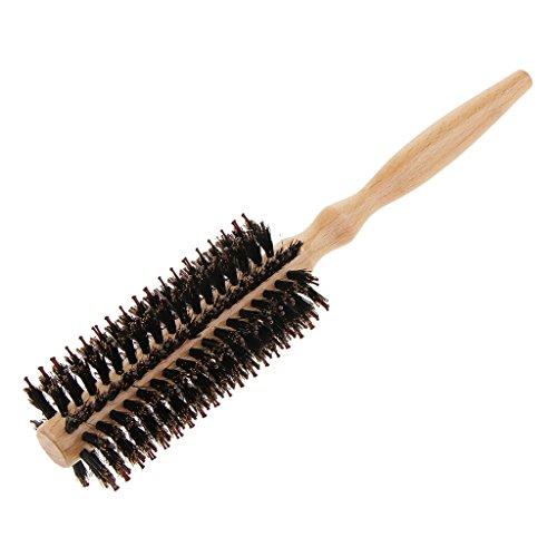 D DOLITY brosse à cheveux ronde poils nylon pour sèche-cheveux (10mm; 12mm; 15mm; 25mm) - Outil élégant de cheveux de qualité de salon profession pour Cheveux en bonne santé, soyeux, lisses - 10 rangs