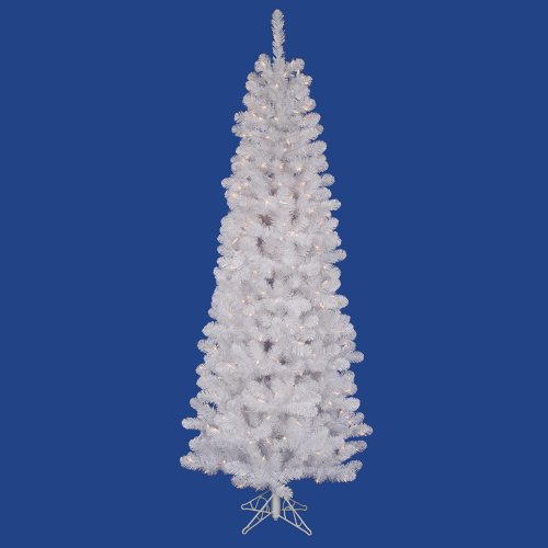 Vickerman White Salem Pencil Tree with Dura-Lit 200 Clear Lights