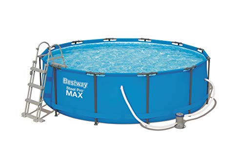 Bestway 12ft x 39.5 Inch Steel Pro MAX Frame Pool Set with F