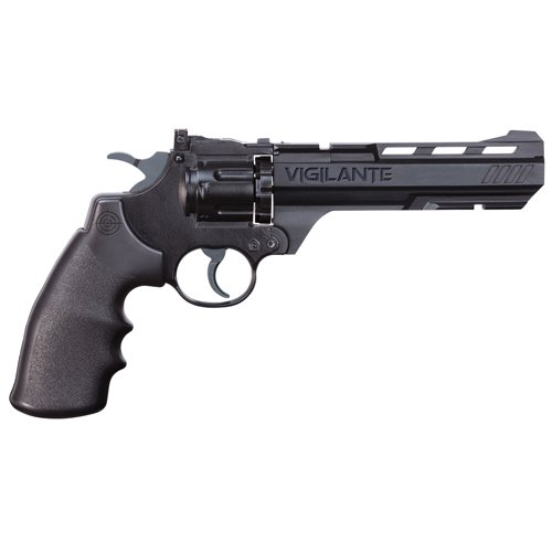 Crosman CCP8B2 Vigilante CO2 .177-Caliber Pellet and BB Revolver, Black, 8.75 x 3.50 x 13.50 inches
