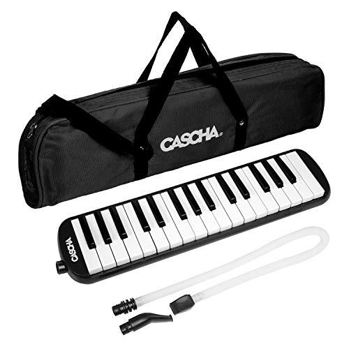 CASCHA Professional Melodica für Einsteiger und Fortgeschrittene, Blasinstrument mit Tragetasche und Mundstück