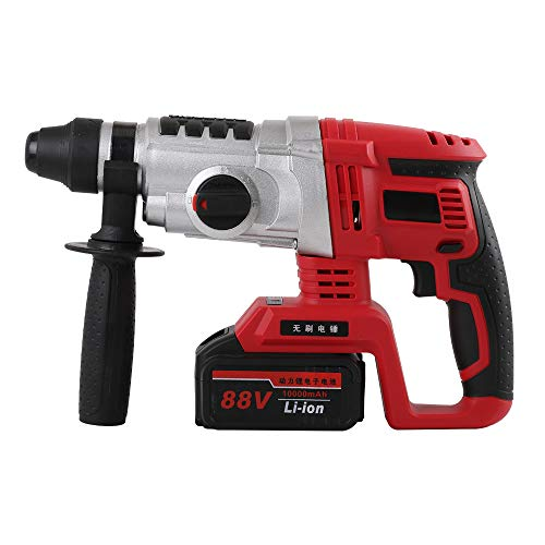 YKLP Brushless Cordless Demolition Hammer, 21V SDS Plus Rotary Hammer Drill with 4.0Ah Lithium Battery and Fast Charger