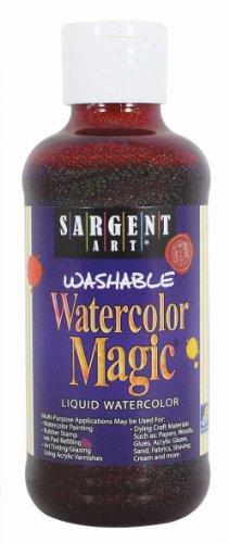 Sargent Art 22-9038 8-Ounce Glitter Watercolor Magic, Magenta