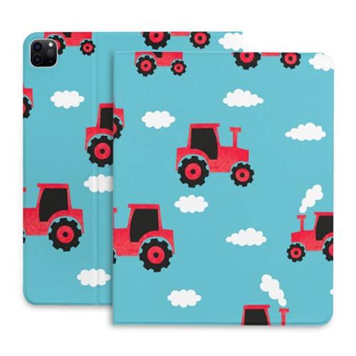Funda para iPad Pro 12,9 Dibujos Animados Lindo Infantil Divertido Tractor Funda para iPad con portalápices con portalápices Compatible con iPad 2020 Pro 11/12,9 Pulgadas
