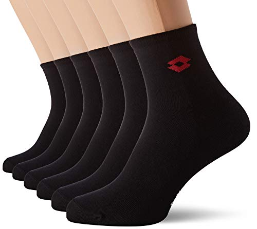 Lotto Herren Sportsocken LOT/AM/LOWX6 (6er Pack), Schwarz, 39/42
