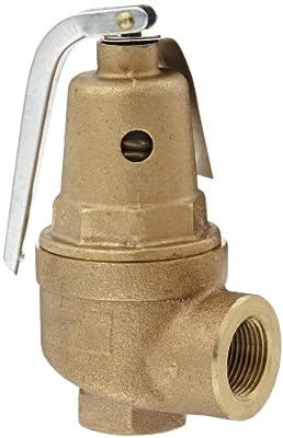 "Apollo Valve 10-600 Series Bronze Safety Relief Valve, ASME Hot Water, 150 psi Set Pressure, 3/4"" NPT Female from Conbraco"