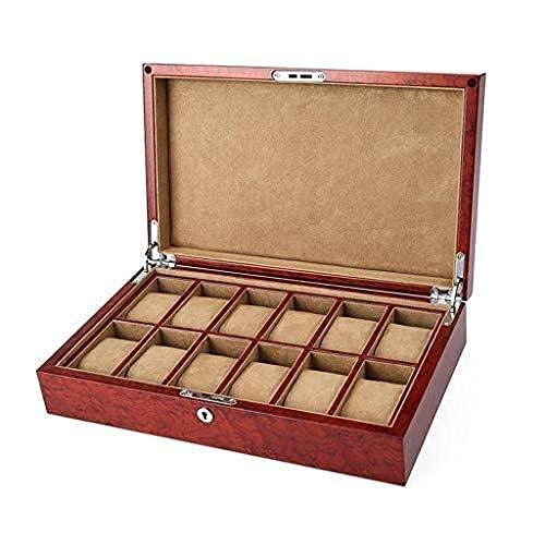 FGVBC Enrollador de Reloj automático, Caja para Mujer Estuches Personalizados de Madera para Hombre Almohadas de Terciopelo Happy Life