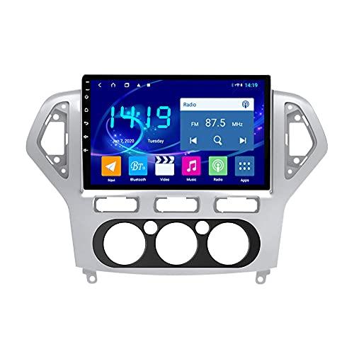 Kilcvt 4g + 64g 8 Core Android 10 Car DVD GPS Navigation Radio Player, para Ford Mondeo 2007-2013 Soporte Control del Volante/WiFi/BT/Multimedia/Enlace Espejo