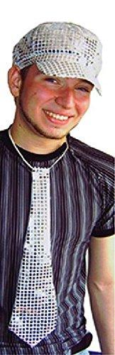 Mondial-Fete - Cravate Disco Argent