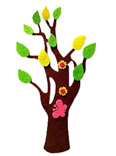 [Papillon et arbre] bébé pépinière mur matériel de décoration, 4PCS