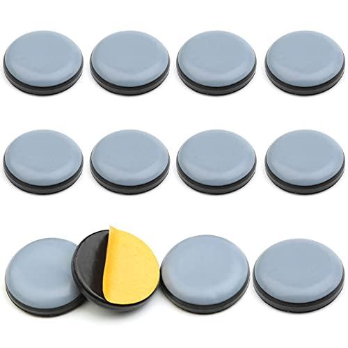 12 Stücke Selbstklebendes Teflon Gleiter-Gleitbrett, Bodenschutz Set für Teflon Möbelschieber, Kompatibel mit Thermomix TM5, TM6 (Durchmesser 2.5 cm)