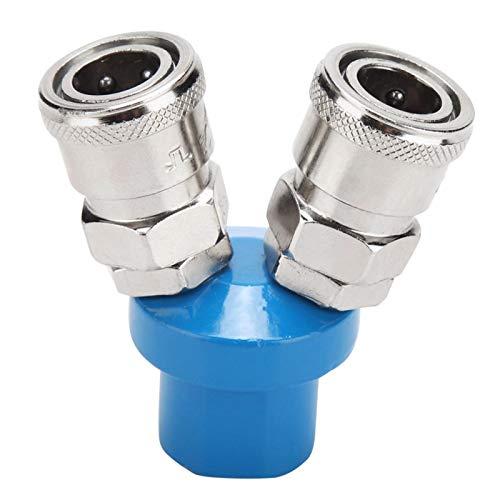 Montaje rápido - Conector de compresor de aire de bomba de aire de montaje rápido neumático de 1/4'tipo C de 2/3 vías(2)