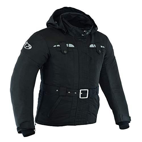 JET Chaqueta Moto Mujer Ligero Textil Impermeable con Armadura TASLAN (2XL (ES 44), Negro)