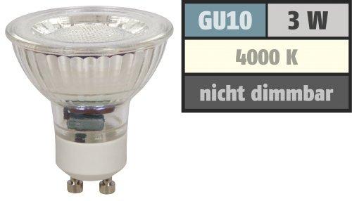 Preisvergleich Produktbild LED-Strahler McShine ''MCOB'' GU10. 3W. 250 lm. neutralweiß