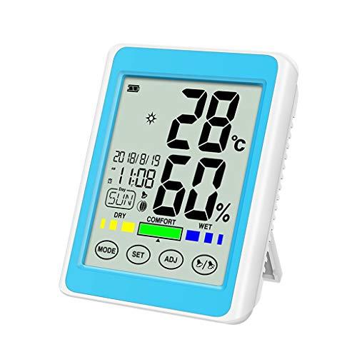 YWSZJ Igrometro del termometro Digitale,Touch Screen accurato Display Digitale termometro a Muro termometro a Muro (Color : A)