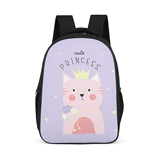 cat Children's Daypack Lightweight Perfect Size for Student grey onesize