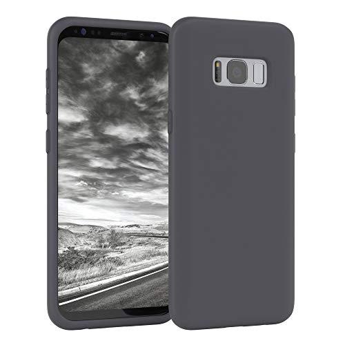 EAZY CASE Nano Silikon Handyhülle kompatibel mit Samsung Galaxy S8, Slimcover mit Kameraschutz & Innenfutter, Silikonhülle, Schutzhülle, Bumper, Handy Hülle, Hülle, Softcase Ultra dünn, Anthrazit
