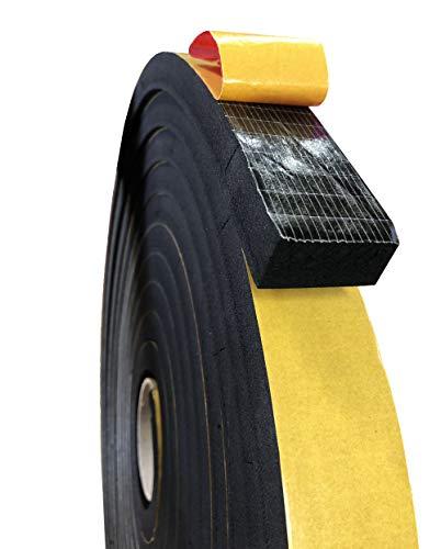 Espuma de caucho microcelular EPDM con adhesivo a una cara, sellados para puertas y ventanas, aislamiento carpintería y cerramientos, cuadros eléctricos… (5X20) mm (10 m)