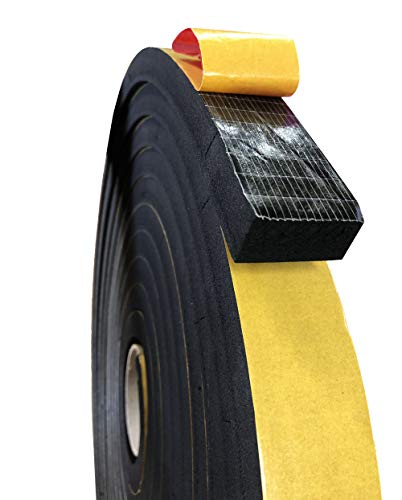 Espuma de caucho microcelular EPDM con adhesivo a una cara, sellados para puertas y ventanas, aislamiento carpintería y cerramientos, cuadros eléctricos… (20X20) mm (10 m)
