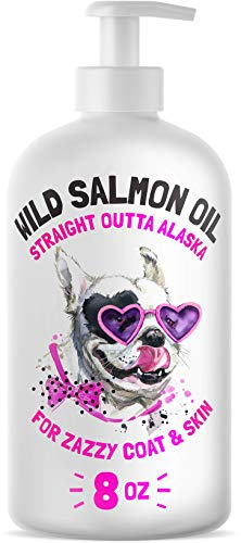 Wild Alaskan Salmon Oil for Dogs & Cats - Pure Fish Omega 3 6 9 Liquid EPA DHA Fatty Acids - Skin & Coat Supplement - Supports Joint Function, Brain, Eye, Immune & Heart Health - Made in USA 8 oz