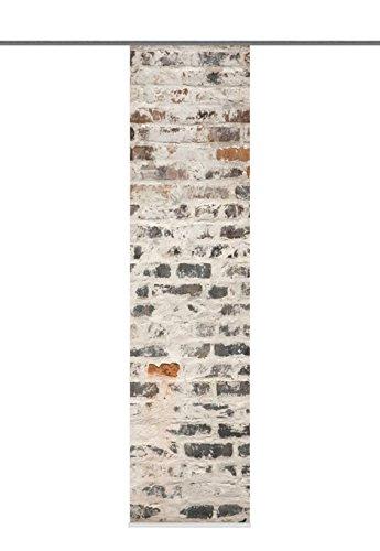 Home Fashion Mall Tenda a Pannello, Poliestere, Grigio, 245 x 60 cm