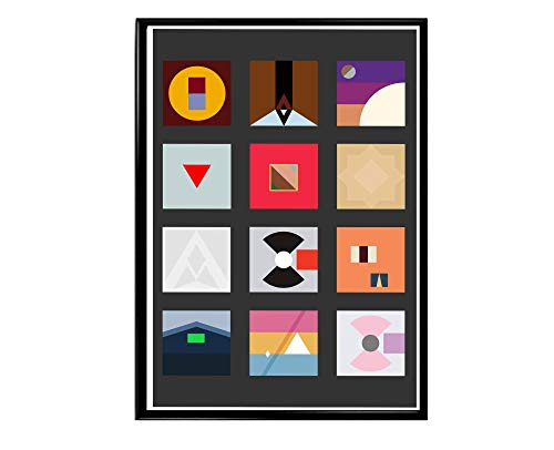 Rob's Tees Custom Minimal Art Album History Poster, Hype Posters, Rap Song Quote Poster, Music Lovers Poster Art Hip Hop Wall Art (Frame NOT Included) (24x36)