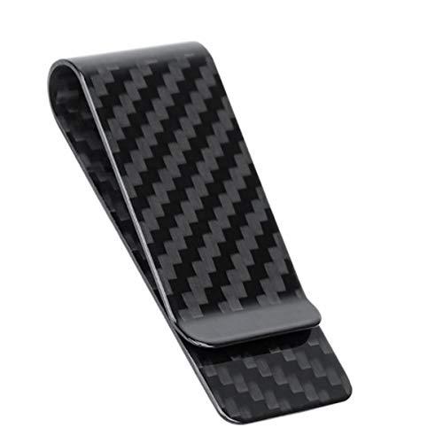 Carbon Fiber Money Clip for Credit Card Holder Slim Business Front Pocket Clips, 38/28/22mm (28mm, Glossy)
