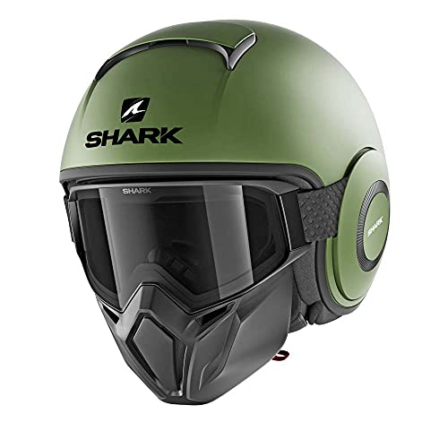 SHARK Herren NC Motorrad Helm, Grun, L