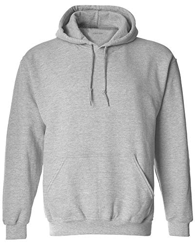 Joe's USA - Big Mens Size Five Extra Large Hoodie Sweatshirts-5XL in Sport Grey