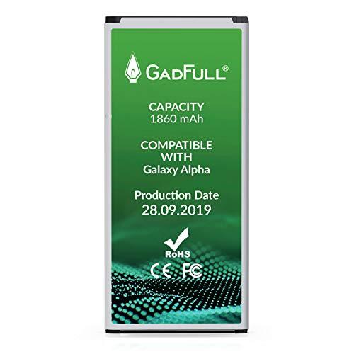 GadFull Akku für Samsung Galaxy Alpha   2019 Baujahr   Entspricht Dem Original EB-BG850BBE   Lithium-Ionen-Akku der Modelle Alpha G850F  Ersatz Handy-Akku für Ihr Smartphone   Batterie Accu Battery