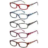 Gamma RAY Readers 6 Pairs Ladies' Readers Includes Sunglass Reader Quality Spring Hinge Reading Glasses for Women +1.50