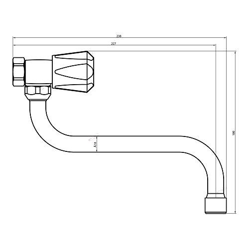 Spültischarmatur Wandarmatur Wasserhahn Spülbeckenarmatur Küchenarmatur Zweigriff Küchenarmatur - 5