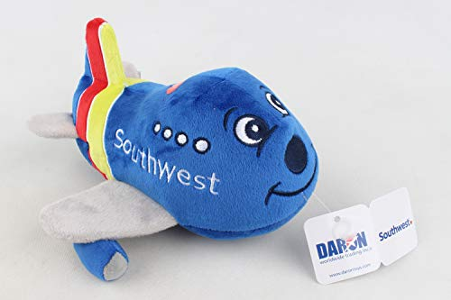 Daron Southwest Airlines Plush Toy Airplane with Sound, 8 inches