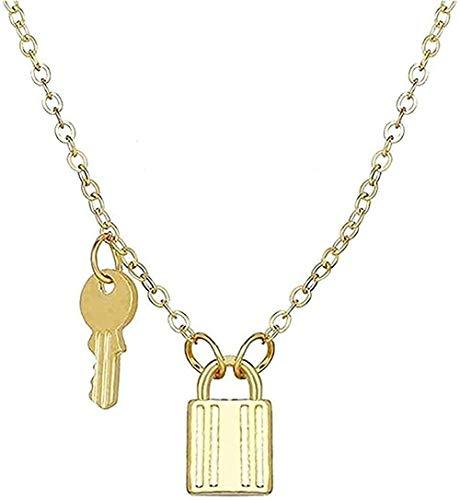 Yiffshunl Collar Candado y Colgante de Llave Collares de Pareja para Mujeres y Hombres Collar de Promesa de Amistad de Amor Regalos románticos