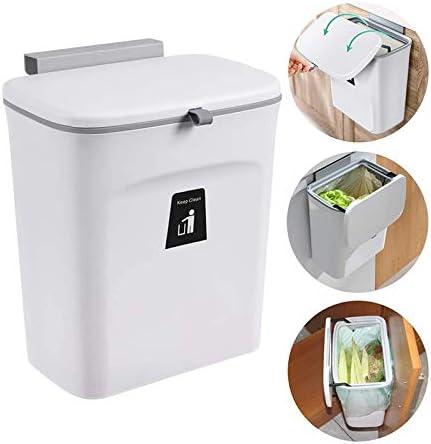 Seau /à Compost Int/éRieur Montable Petite Poubelle Suspendue avec Couvercle YanYun Bac /à Compost de Cuisine pour Comptoir ou sous /éVier C
