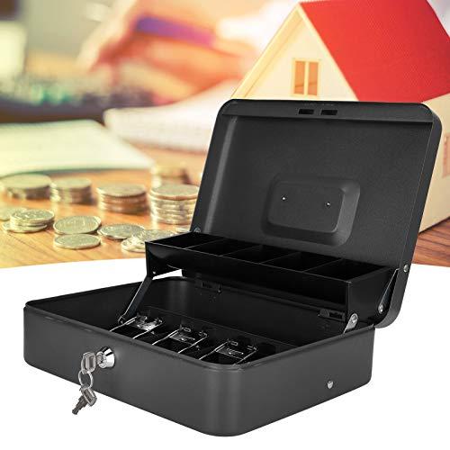 Caja de efectivo, cajón de efectivo portátil con cerradura de seguridad 4 billetes + 5 monedas para mercados de pulgas