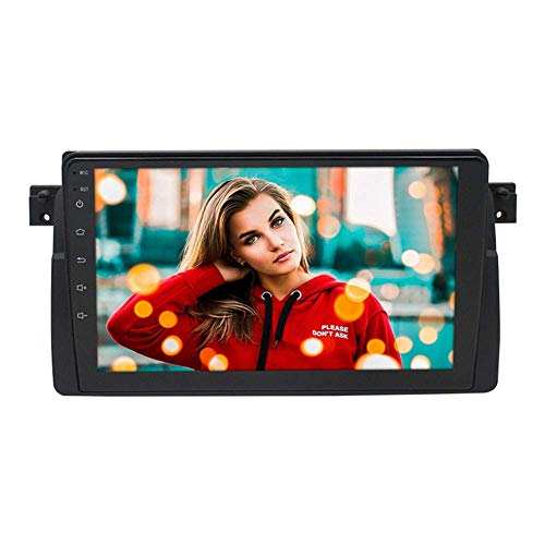 Android 9.1 Car Stereo Sat Nav 9 Pulgadas Pantalla multitáctil Unidad Principal Bluetooth Radio de automóvil Reproductor Multimedia Admite WiFi GPS Salida RCA Completa OBD para BMW E46 1999-2005