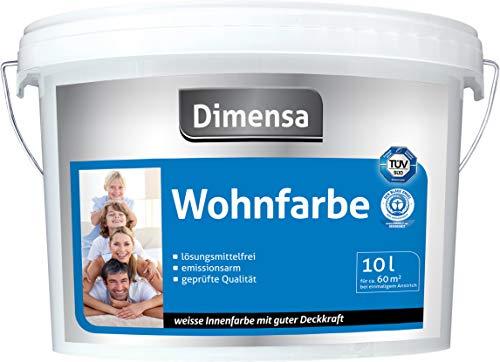 Wandfarbe weiß Angebot | Innenfarbe weiß Jetzt Wand- und Deckenfarbe weiss | 5 Liter