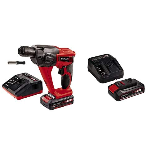 Einhell 18 LI TE-HD Power X-Change Cordless Rotary Hammer Kit with Einhell 2.5Ah Power X-Change Starter Kit - Battery & Charger Universal for All Power X-Change Devices