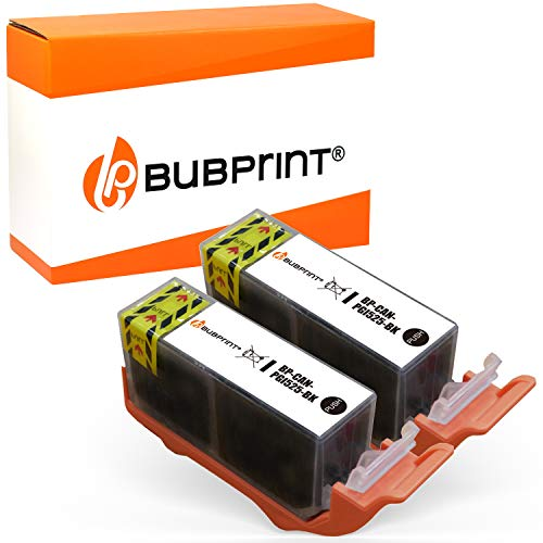 Bubprint 2 Druckerpatronen kompatibel für Canon PGI-525PGBK PGI 525 BK für Pixma IP4850 IP4950 IX6550 MG5150 MG5250 MG5350 MG6150 MG6250 MG8150 MG8250